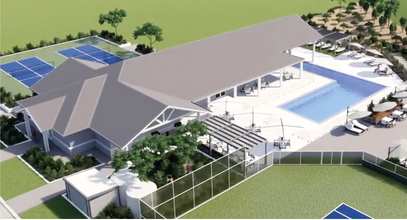 Good Life RV and Lifestyle Resorts Clubhouse Artists Impression