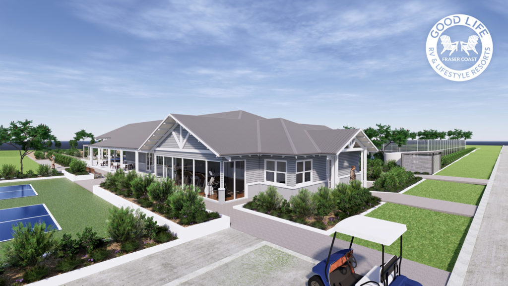 Artist impression of the Good Life RV and Lifestyle Resort for over 50s Clubhouse