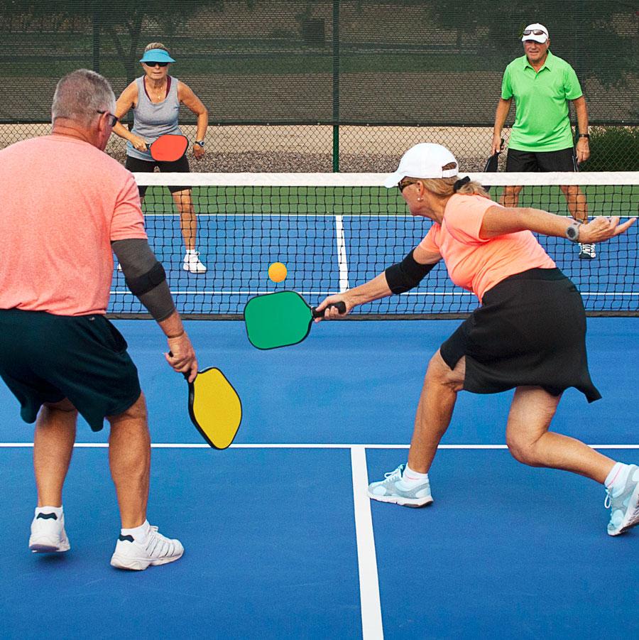 Pickleball fun at Good Life over 50s lifestyle resort